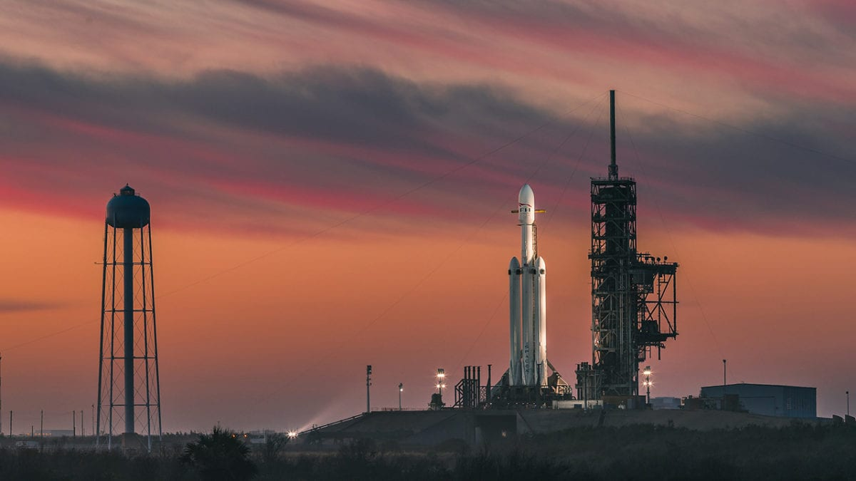 Falcon 9 Rocket Launches SpaceX to Infinity and Beyond